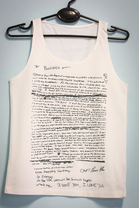 d42a731f Tank tops featuring screen prints of late NIRVANA frontman Kurt Cobain's  scrawled suicide note, which were reportedly first made available through a  seller ...