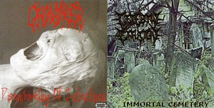 "Split ""Cerebral Effusion / Offalmincer ""Immortal Cemetery / ""Disemboweling of Intestines"""""